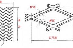 菱形钢板网测量方式图