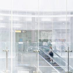 白色铝板网吊顶